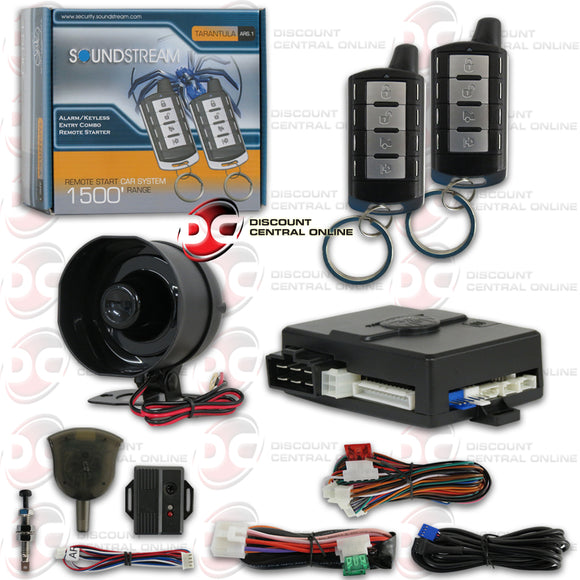 SOUNDSTREAM ARS.1 1-WAY KEYLESS ENTRY CAR ALARM WITH REMOTE START