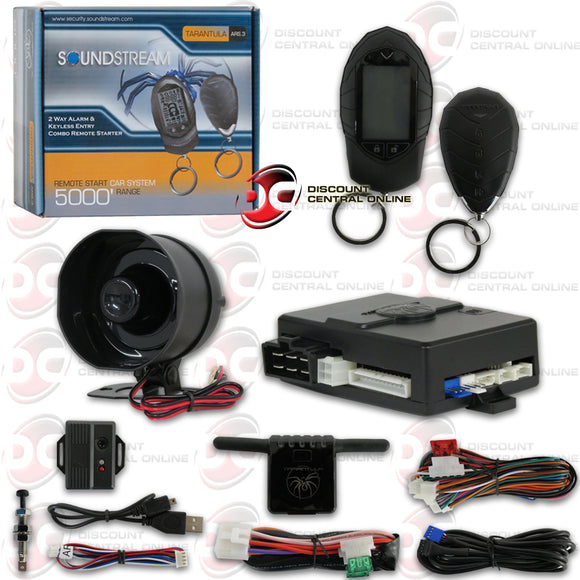 SOUNDSTREAM ARS.3 2-WAY CAR ALARM WITH KEYLESS ENTRY AND REMOTE START