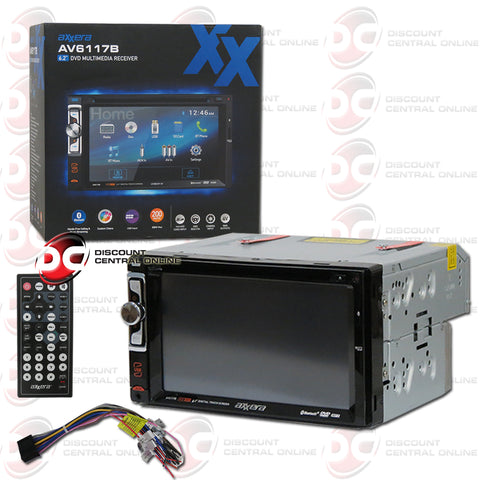"Axxera AV6117B 2-Din 6.2"" Car AM/FM/CD/DVD Receiver with Bluetooth"