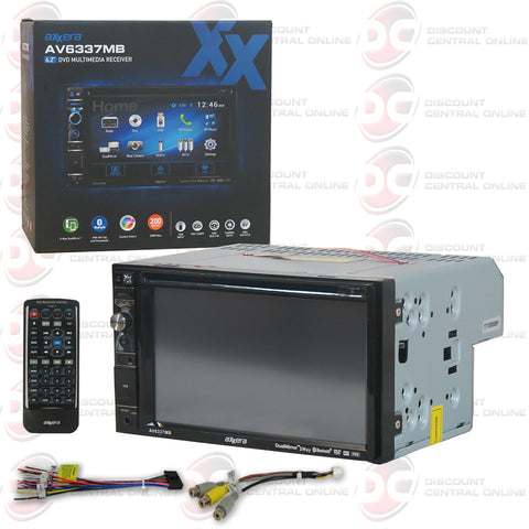 "Axxera AV6337MB 2DIN 6.2"" Car DVD CD Receiver Dual Mirror with Bluetooth"