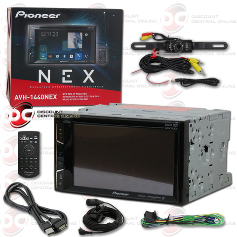 "Pioneer AVH-1440NEX 6.2"" 2-Din Car AM/FM/CD/DVD Receiver With Bluetooth And Apple Carplay (With Back-Up Camera)"