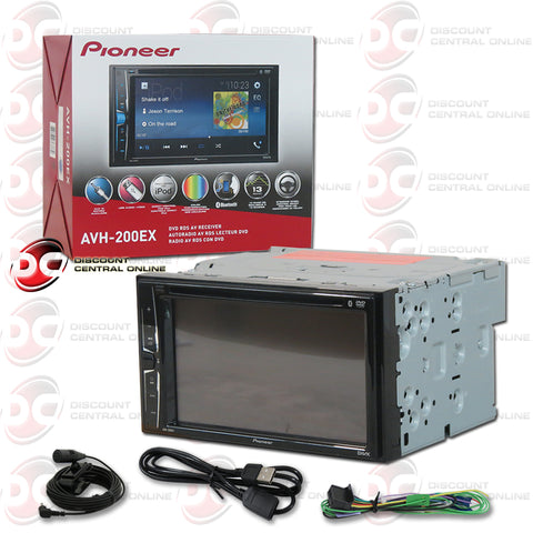 "PIONEER AVH-200EX 6.2"" CAR AUDIO MULTIMEDIA RECEIVER WITH AM/FM/CD/DVD/AUX WITH BLUETOOTH CAPABILITY"