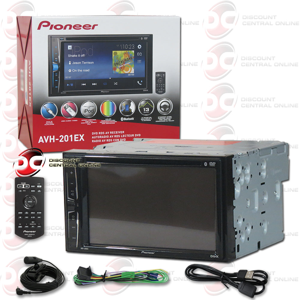 "Pioneer 2DIN AVH-201EX 6.2"" Car DVD CD Receiver with Bluetooth"