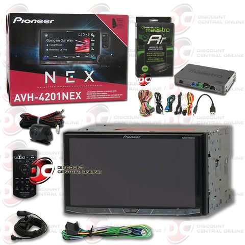 "Pioneer AVH-4201NEX 2-Din 7"" Car CD/DVD/AM/FM/AUX/ With Bluetooth Radio & BC8 Backup Camera Plus iDatalink Maestro ADS-MRR"