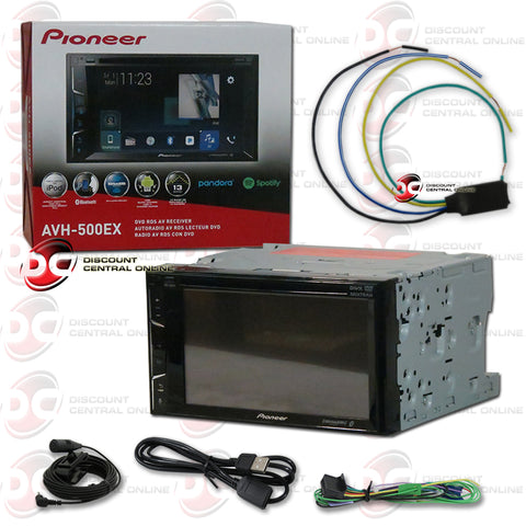 "Pioneer AVH-500EX 6.2"" Car CD/DVD/ Receiver with Bluetooth Plus Video Bypass Cable"