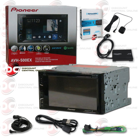 "Pioneer AVH-500EX 6.2"" Car CD/DVD/ Receiver with Bluetooth and Sirius XM Connect SXV300V1 Tuner for Satellite Radio"