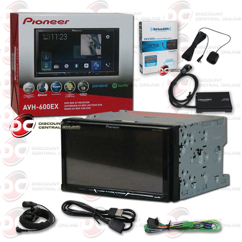 "Pioneer AVH-600EX 7"" Car CD/DVD/ Receiver with Bluetooth and Sirius XM Connect SXV300V1 Tuner for Satellite Radio"