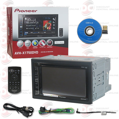 "Pioneer 2DIN AVH-X1750DVD 6.2"" Car DVD CD Receiver Mirrorlink & Appradio with Bluetooth"