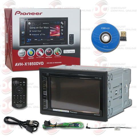 "Pioneer 2DIN AVH-X1850DVD 6.2"" Car DVD CD Receiver Mirrorlink & Appradio with Bluetooth"