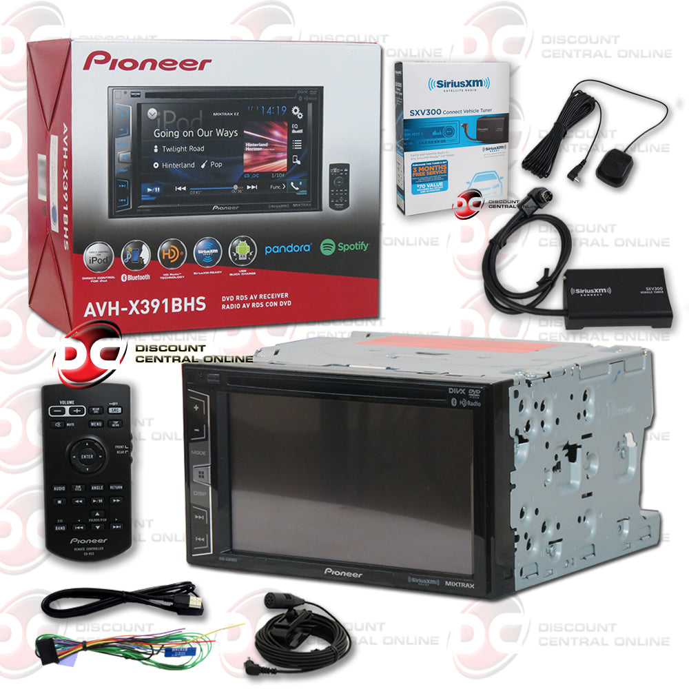 "Pioneer 2DIN AVH-X391BHS 6.2"" Car DVD CD Receiver AppRadio One with Bluetooth + SiriusXM"