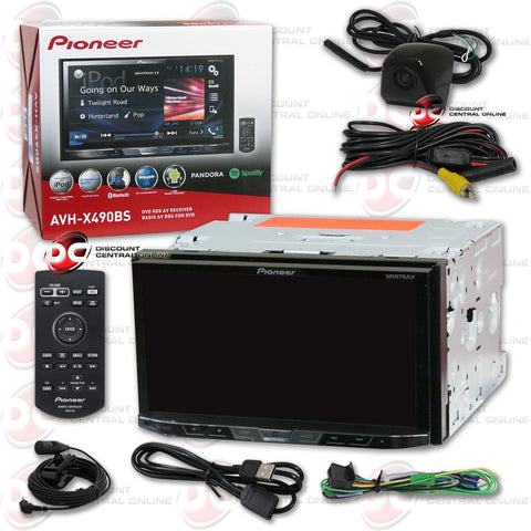 "Pioneer AVH-X490BS 2DIN 7"" CD DVD Receiver with Bluetooth & SiriusXM-Ready and Universal HD Rear View Back-Up Camera (Black)"