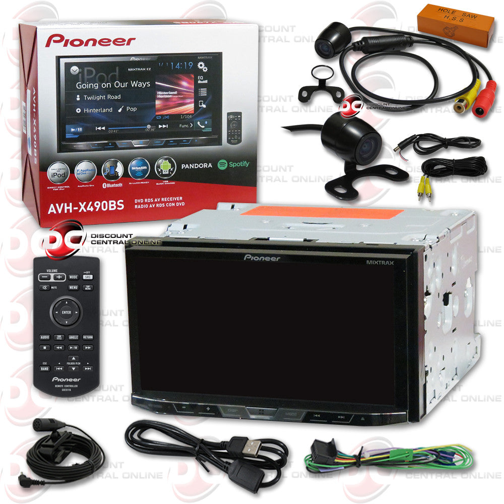 "Pioneer AVH-X490BS 2DIN 7"" CD DVD Receiver with Bluetooth & SiriusXM-Ready and 170° Rear View Camera"