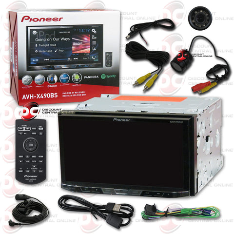 "Pioneer AVH-X490BS 2DIN 7"" CD DVD Receiver with Bluetooth & SiriusXM-Ready and Rear View Camera"