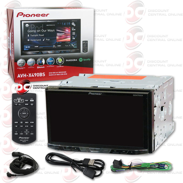 "Pioneer AVH-X490BS 2DIN 7"" CD DVD Receiver With Bluetooth"