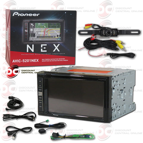 "Pioneer AVIC-5201NEX 6.2"" LCD AM/FM/GPS/CD/DVD With Bluetooth Plus Rear-View Camera"