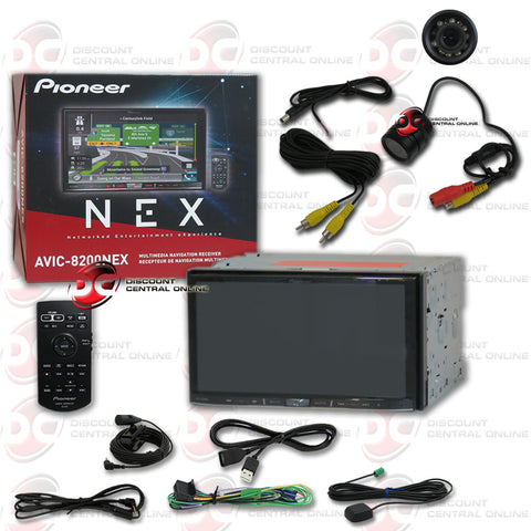 "Pioneer AVIC-8200NEX Double-DIN In-Dash Navigation AV Car Stereo with 7"" WVGA Capacitive Touchscreen Display and Rear View Camera"