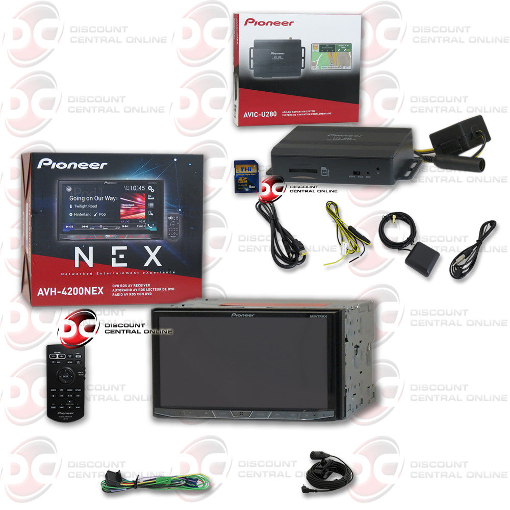 pioneer 4200. pioneer avh-4200nex double-din multimedia dvd car stereo with 7\ 4200 a