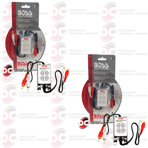 2x Boss B25N 2-Channel Ground Loop Noise Isolator Filter