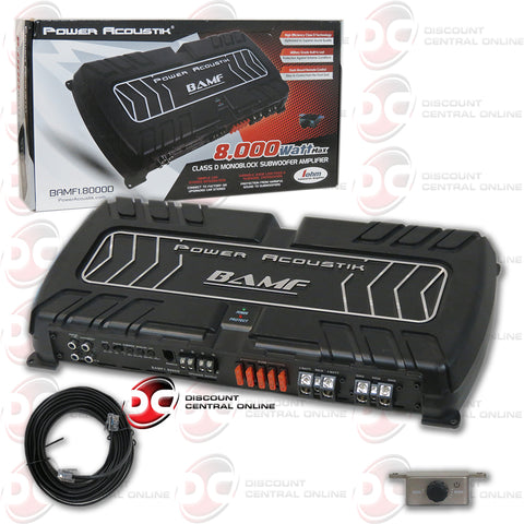 Power Acoustik BAMF1.8000d 1-Channel Car Audio Mono Block Amplifier