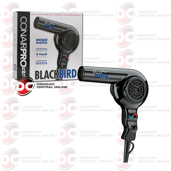 Conair Pro-Blackbird 2000 Watt Ultra Lightweight Hair Dryer