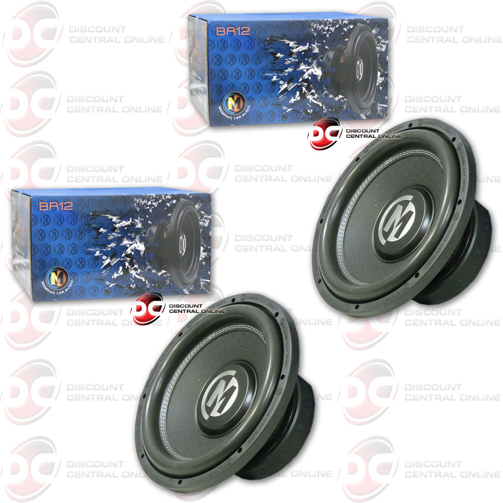 "2 x Memphis 15-BR12D4 12"" Car Audio Subwoofer  (Bass Reference Series)"