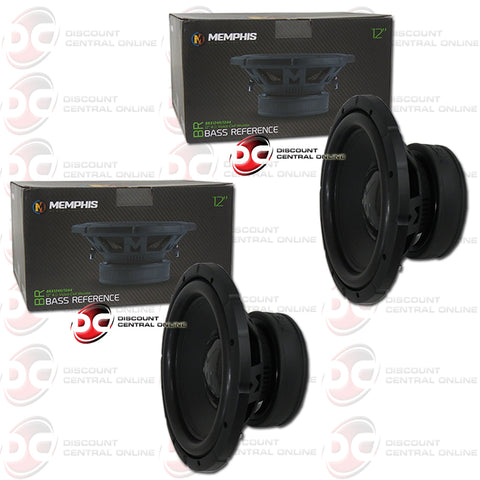 "Memphis BRX1240 12"" Single 4-Ohm Car Audio Subwoofer (Pair)"