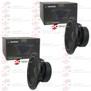"2x Memphis BRX1244 12"" Dual 4-OHM Car Audio Subwoofer"