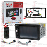 "Boss Elite BV760B 2-Din 6.2"" Car CD/DVD/USB Receiver with Bluetooth (with Back-up Camera"