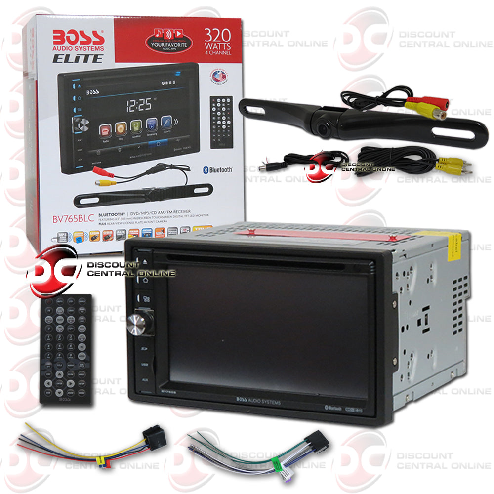 "Boss Elite BV765BLC 2-Din 6.5"" Car CD/DVD Receiver With Bluetooth And Camera"