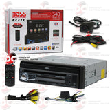 "Boss Elite BV860B 7"" 1-Din Car CD/DVD/USB Receiver With Bluetooth (With Back-up Camera)"