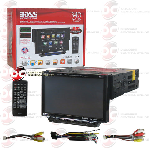 "BOSS BV8974B 7"" 1-Din Car CD/DVD Receiver With Bluetooth"