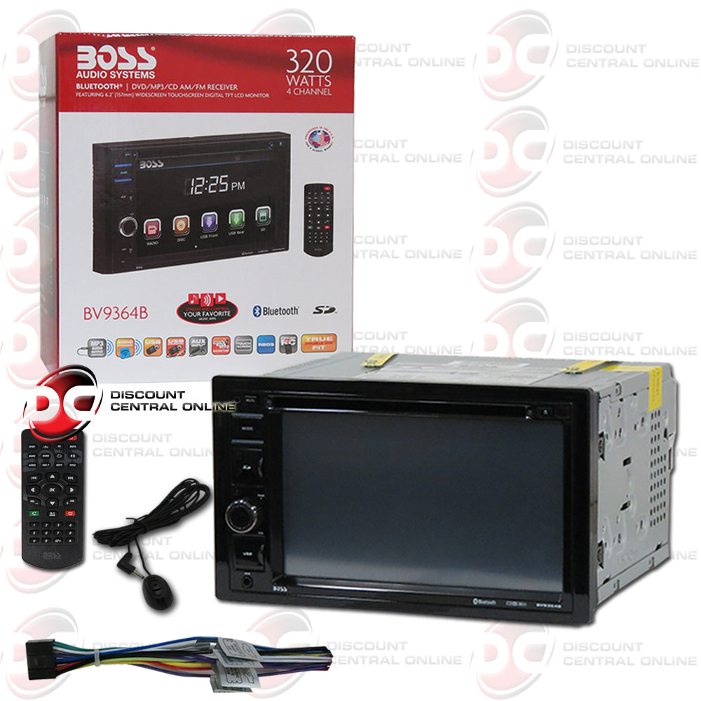 "Boss BV9364B Car 2-Din 6.2"" Car CD/DVD/USB Receiver with Bluetooth"
