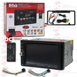 "Boss Audio BV9371BD 2-Din 6.2"" 6.2"" Touchscreen Car CD DVD USB Detach Panel Bluetooth (with Back-up Camera)"