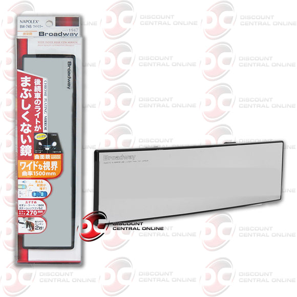 BROADWAY BW-745 SHATTER PROOF CAR TRUCK REAR VIEW MIRROR (270MM CONVEX)