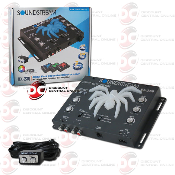 Soundstream BX-23Q Car Bass Reconstruction Processor With 3 Band EQ & LED
