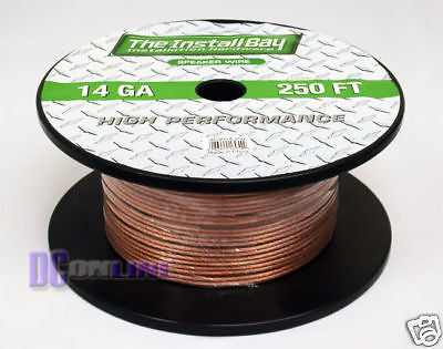 "250"" CAR AUDIO SPEAKER WIRE 14GA SPEAKER CABLE 250FT"
