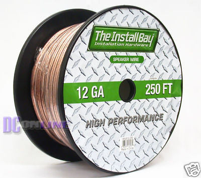 "250"" CAR AUDIO SPEAKER WIRE 12GA SPEAKER CABLE 250FT"