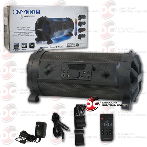 "Cannon 8 Portable Bluetooth Speaker by Soundstream (8"" Woofers)"