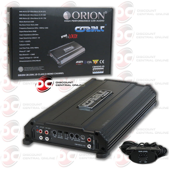 Orion CB1500.1D Mono block Class D Car Amplifier