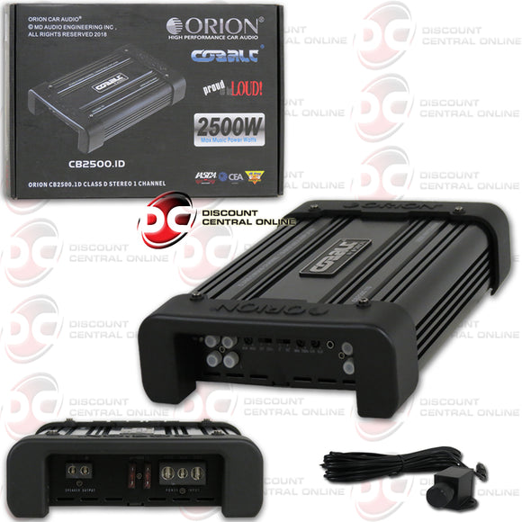 Orion CB2500.1D Cobalt Series Monoblock Class D 1-Ohm Amplifier