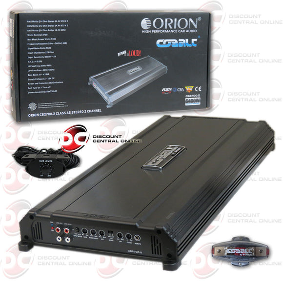 Orion CB2700.2 Cobalt Series 2 Channel Amplifier