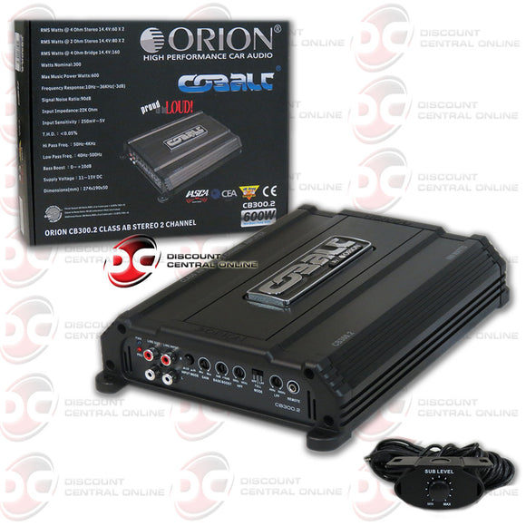 Orion CB300.2 Cobalt Series 2 Channel Amplifier