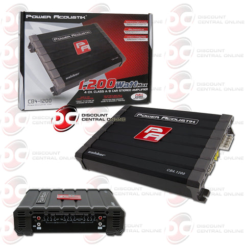 Power Acoustik CB4-1200 Class A/ B 4-Channel Subwoofer Amplifier
