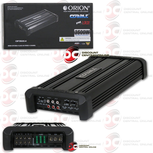 ORION CBT3500.4 4-CHANNEL CLASS AB CAR AMPLIFIER 3500W MAX