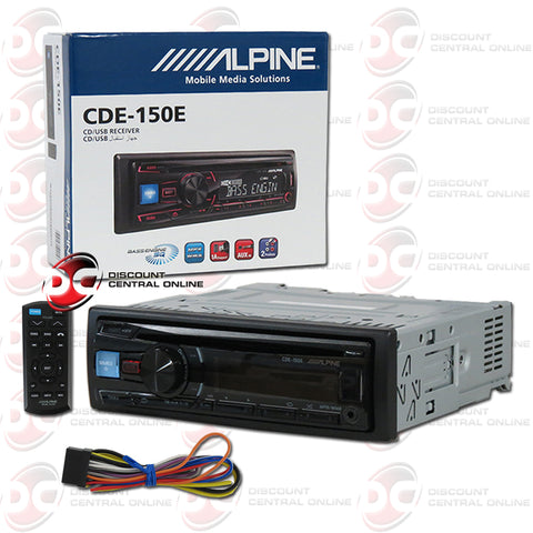 Alpine CDE-150E Car AM/FM/CD/DVD/USB/AUX Receiver with ipod Control