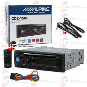 Alpine CDE-150E Car AM/FM/CD/DVD/USB/AUX Receiver with ipod Control Plus IBA-3.5mm AUX Cord