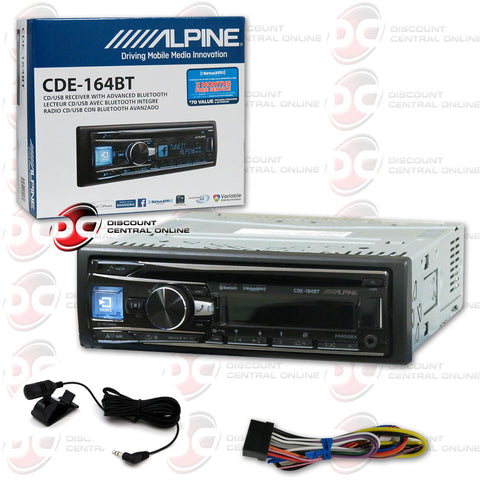 Alpine CDE-164BT Multimedia Receiver CD/AM/FM/AUX/Bluetooth Capability