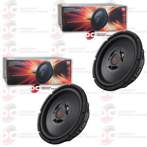 "TWO JBL CLUB WS1200 12"" SWITCHABLE 2 OR 4 OHM SHALLOW MOUNT CAR SUBWOOFER"