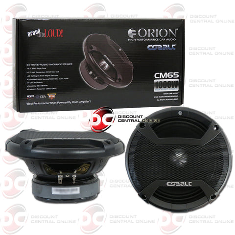 "Orion Cobalt CM65 6.5"" Car Audio Midrange Speakers"