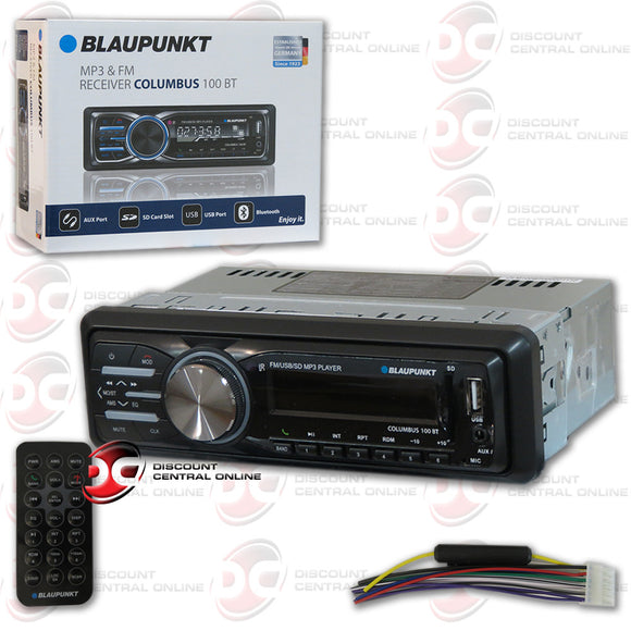 Blaupunkt Columbus100BT 1-DIN Multi media Car Stereo with Bluetooth
